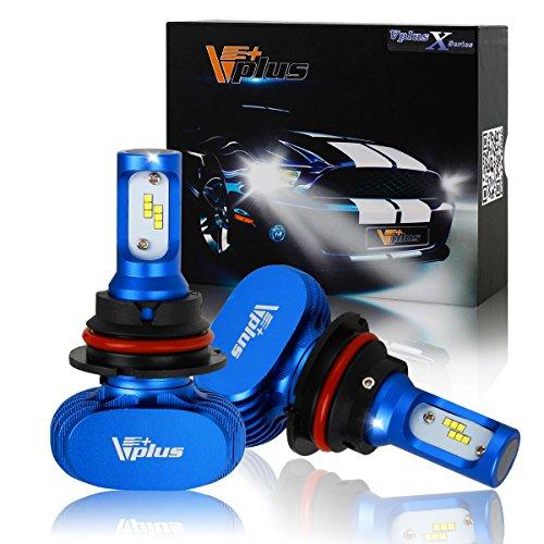 - Vplus X Series LED Headlight Bulbs - 9004 HB1 72W 8,000LM 6500K White Seoul w/No Fan All in One Headlamp LED Conversion Headlight Conversion Kit, Hi/Lo beam headlamp, Dual Beam Head Light (2pcs/set)