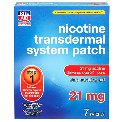 Rite Aid Nicotine Patches, Step 1, 21mg - 7 Count | Stop Smoking Aids