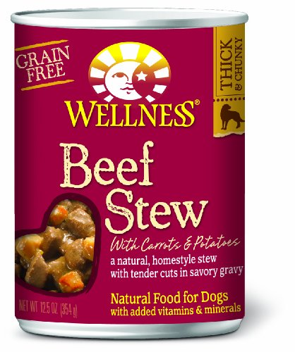 Wellness Canned Dog Food for Adult Dogs, Beef Stew with Carrots and Potatoes, 12-Pack of 12-1/2-Ounce Cans, My Pet Supplies
