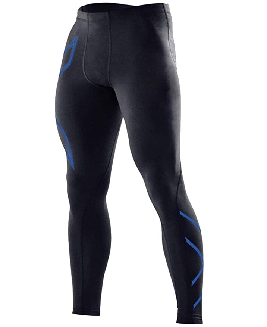 Andopa Men Simple Quick Drying Breathable Fitness Bodycon Leggings Tights