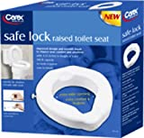 Carex Safe Lock Raised Toilet Seat, 4-1/4'' H x 16-1/2'' W x 16-5/8'' D, Weight Capacity: 500 lb, Added Height To Toilet Seat: 4-1/4'' (1 Each)