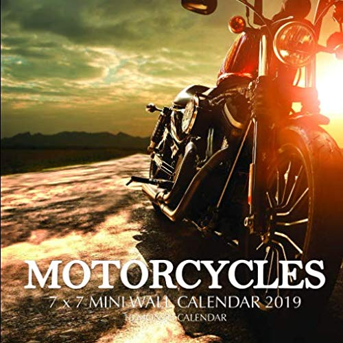 Motorcycles 7 x 7 Mini Wall Calendar 2019: 16 Month Calendar