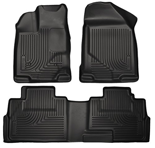 Weathertech 446131-441793 1st & 2nd Row Black Floor Liner for 2009 - 2014 Ford F150 (Weathertech Floor Mats 2014 F150 compare prices)