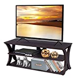Tangkula TV Stand, 3-Tier TV Stand Storage Console with Storage Shelves for TV up to 50