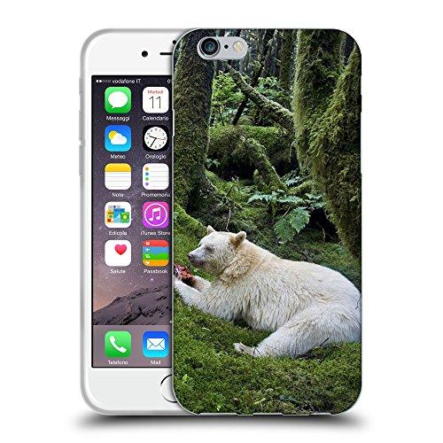 "Just Phone Cases Coque de Protection TPU Silicone Case pour // V00004077 Manger ours albinos dans la forêt // Apple iPhone 6 4.7"""