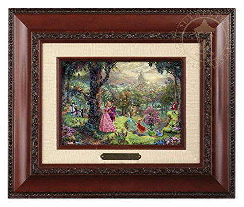 Thomas Kinkade Disney Sleeping Beauty Brushwork (Brandy (Disney Princess Framed Art)