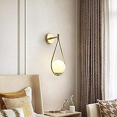 Lámpara de pared Simple sala de estar de cobre TV fondo dormitorio escalera pasillo Single_Head-SingleHead: Amazon.es: Iluminación