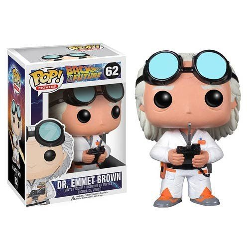 Doc Brown Pop #50 Figure Back To the Future Dr. Emmett Brown