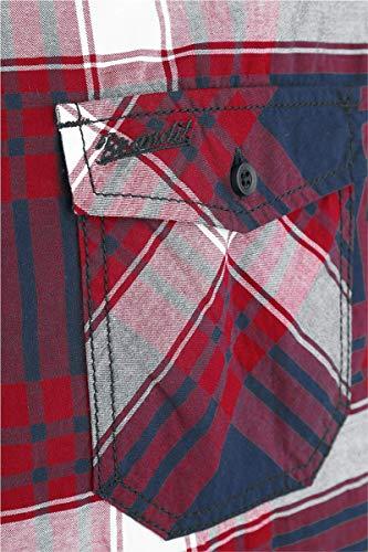 blu Rosso Camicia Brandit Roadstar bianco XqTnvB