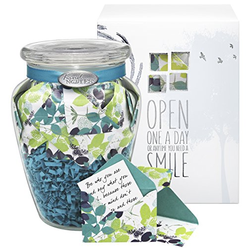 Glass KindNotes SYMPATHY Keepsake Gift Jar of Messages for Condolences, Bereavement, Passing, Loss, Funerals - Calm Breeze