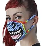 Smiling Unicorn Kandi Bead Halloween Mask, Rave Wear, Only From Kandi Gear