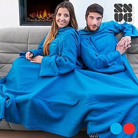 Copertina Con Le Maniche.Copertina Doppia Con Maniche Per Due Persone E Tasca Snug Snug