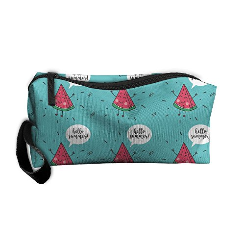 Hello Summer Watermelon-01 Storage Cosmetic Bag Portable Travel Makeup Bag Packing Pouches
