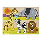 Melissa & Doug Safari Wooden Chunky Jigsaw Puzzle (20 pcs)
