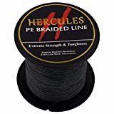 100m 109yds Black 6lbs-100lbs Hercules Pe Dyneema Braided Fishing Line 4 Strands (8lb/3.6kg 0.10mm)