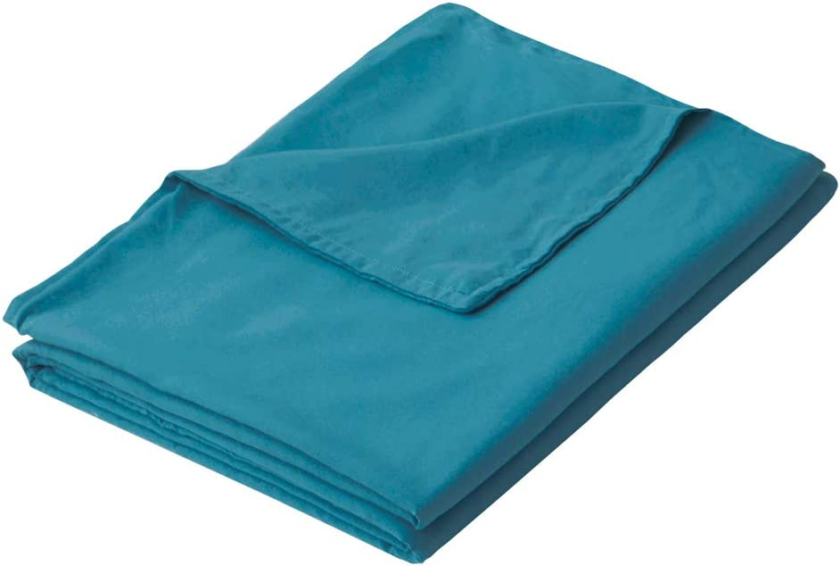 "PANDAHOME 48""x72"" Teal Duvet Cover, Premium Polyester Microfiber Removable Duvet Cover for Weighted Blanket-Ocean Teal"