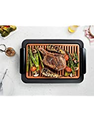 Smokeless Electric Grill and Griddle - Indoor BBQ Grill, Portable and Nonstick As Seen On
