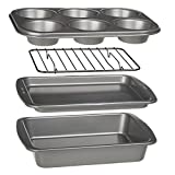 Ecolution Toaster Oven Bakeware 4p Set Nonstick Heavy Duty Carbon Steel Deal (Small Image)