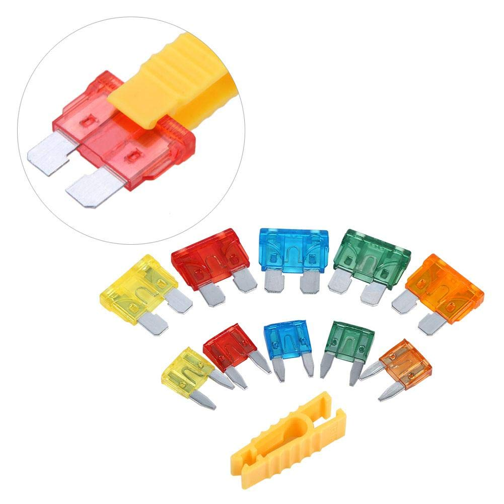 Cuque Assorted Standard /& Mini Fuses 50 Pcs Universal 5A 10A 15A 20A 30A Blade Fuses Set with Alligator Clip Fuse Assortment Kit with Superior Quality Zinc Alloy for Auto Car Truck Boat RV SUV