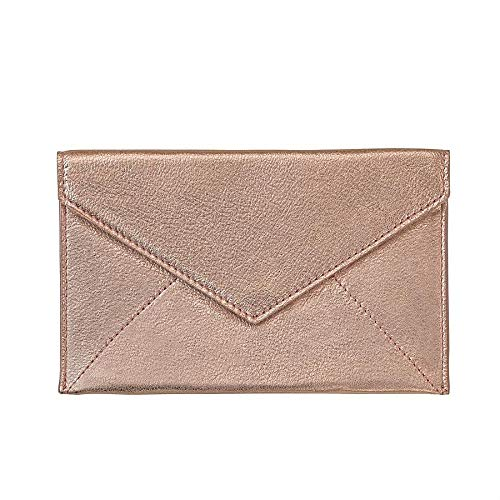 Rose Gold Metallic Luxe Leather Photo Envelope Medium by Graphic ImageTM -