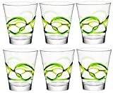Cheap Bormioli Rocco Ceralacca Tumbler Glasses – 385ml (13oz) – Green – Set of 6