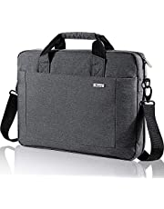 Voova Laptop Bag Case 14 15 15.6 Inch, Waterproof Computer Sleeve Messenger Bag with Shoulder Strap for MacBook Pro, ASUS Acer Hp Samsung Chromebook, Expandable Business Briefcase for Men Women, Gray