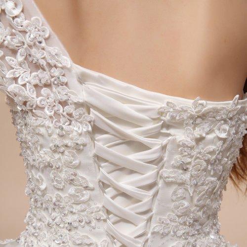 Dearta Applikation Mit Bodenlang Tuell Pailletten Schulter Kleidungen Brautkleider Ballkleid Damen 1 Elfenbein zqwSazgr