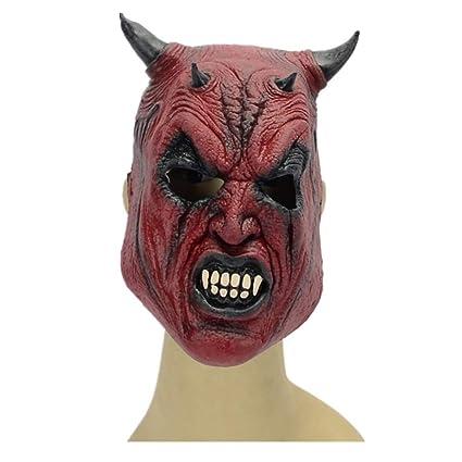 WHLMJ Máscara De Látex Al por Mayor Ghost Festival Nightclub Carnaval Diablo Doble Diablo Máscara De