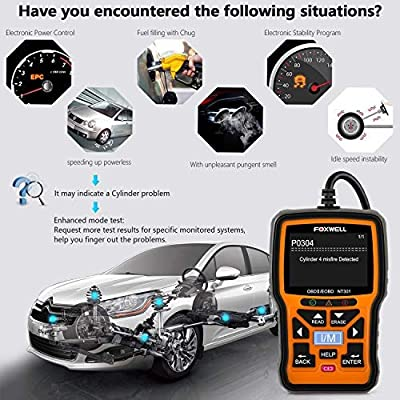 FOXWELL NT301 OBD2 Scanner Professional Enhanced OBDII Diagnostic Code Reader from FOXWELL