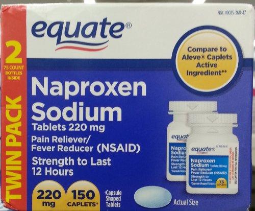 Amazon.com: Equate Naproxen Sodium, 220mg, 150 Caplets (Two 75ct x ...