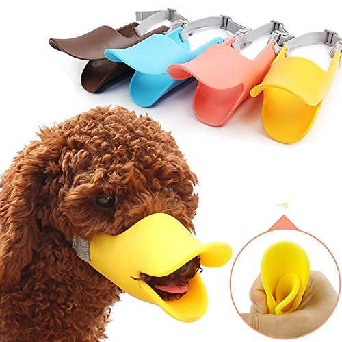 Bestwishes2u Colors Soft Silicone Anti Bite Bite-proof Anti Barking Cute Duck Mouth Shape Dog Mouth Covers Pet Dog Muzzles Mouth Set