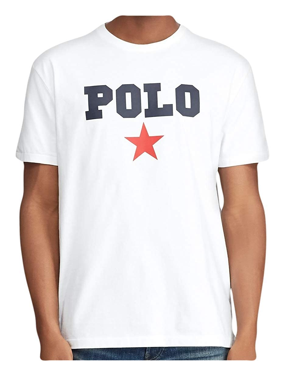 Ralph Lauren Polo Mens Classic Fit Graphic Logo Americana Cotton Short Sleeve Crewneck T-Shirt