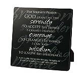 "Lighthouse Christian Products Simple Faith Serenity Prayer Plaque, 5 5/8 x 5 5/8"""