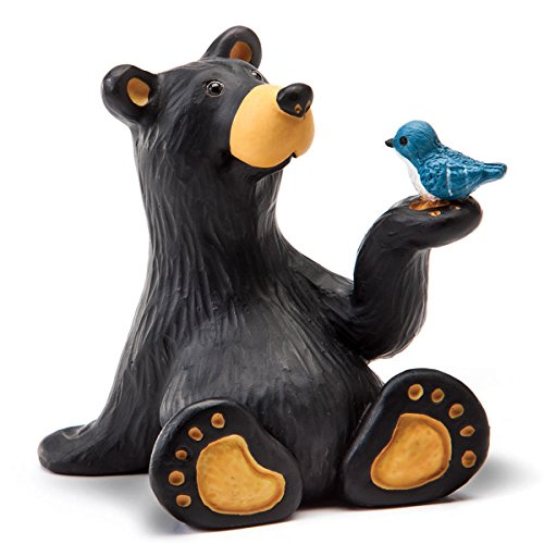 Bluebird Towel (Black Forest Decor Bear & Bluebird Figurine)