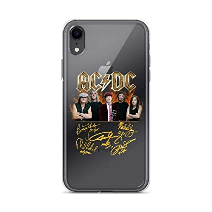 Amazon Com Iphone Xr Pure Clear Case Cases Cover Acdc 70s