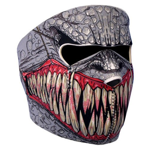 Astra Depot NEOPRENE SKULL FULL FACE REVERSIBLE MOTORCYCLE MASK (Fang Face) ()