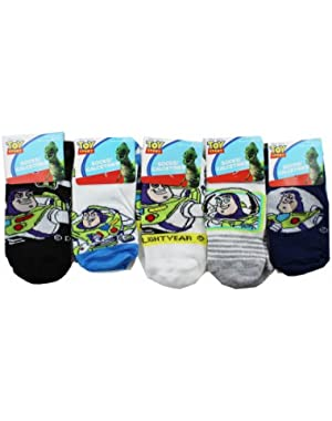 Assorted Toy Story Socks (3 Piece Set) - Boys Low Cut Socks (Size 4-6)