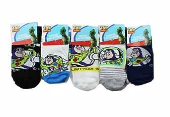 Assorted Toy Story Socks (3 Piece Set) - Boys Low Cut Socks (Size 4-6)
