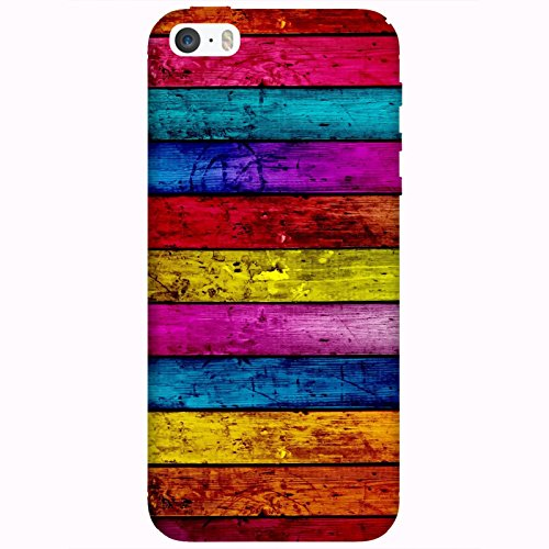 Coque Apple Iphone 5-5s-SE - Bois multi colors