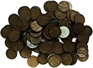 1 P, D, S Wheat Pennies Collection of 100 Various Dates + Bonus 10 Coins Circulated