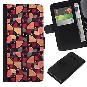 Supergiant (Sun Pattern Floral Abstract Green Color) Dibujo PU billetera de cuero Funda Case Caso de la piel de la bolsa protectora Para Samsung Galaxy A3 / SM-A300