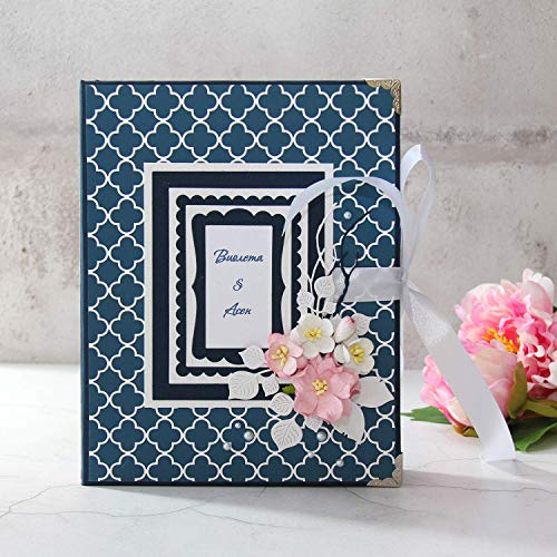 Navy Blue Wedding Memory Book ()