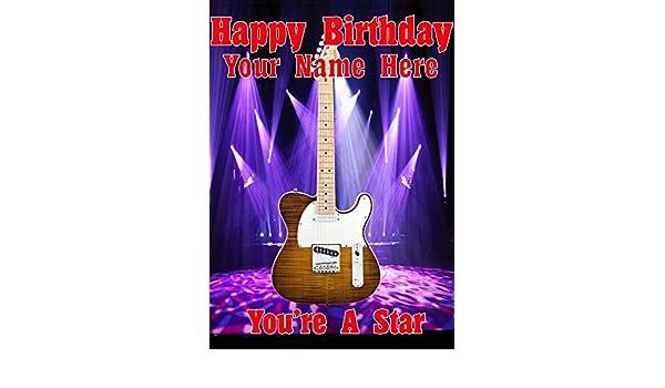 Acabado Natural Telecaster guitarra cptmi34 feliz cumpleaños A5 ...