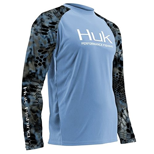Huk H1200119-420-XXL Performance Kryptek Vented Ls, Carolina Blue, XX-Large