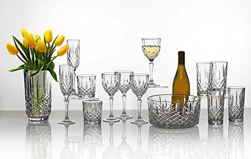 James Scott Double Old Fashioned Crystal Drinking Glasses Set, Irish Cut Design - Set of 4 - 8 Oz by James Scott (Image #2)