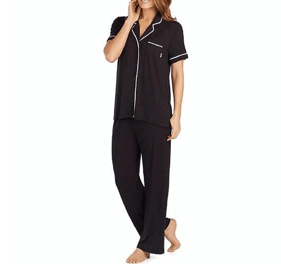 DKNY Notch Collar and Bottoms 2-Piece Set Pyjamas Set Black Women s  Short-Sleeves 2dee6a7de