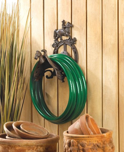 ... Koehler Home Decorative Cast Iron Cowboy Garden Hose Organizer