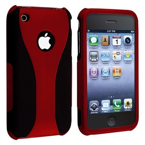 Cell Phone Case for iPhone 3 G 3GS - Non-Retail Packaging - Red (Best Iphone 3gs Case)