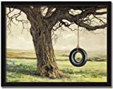 Title: Grandma's Swing Artist:  Bonnie Mohr Print Size: 16x12 Shown framed with: a Black Shaker frame