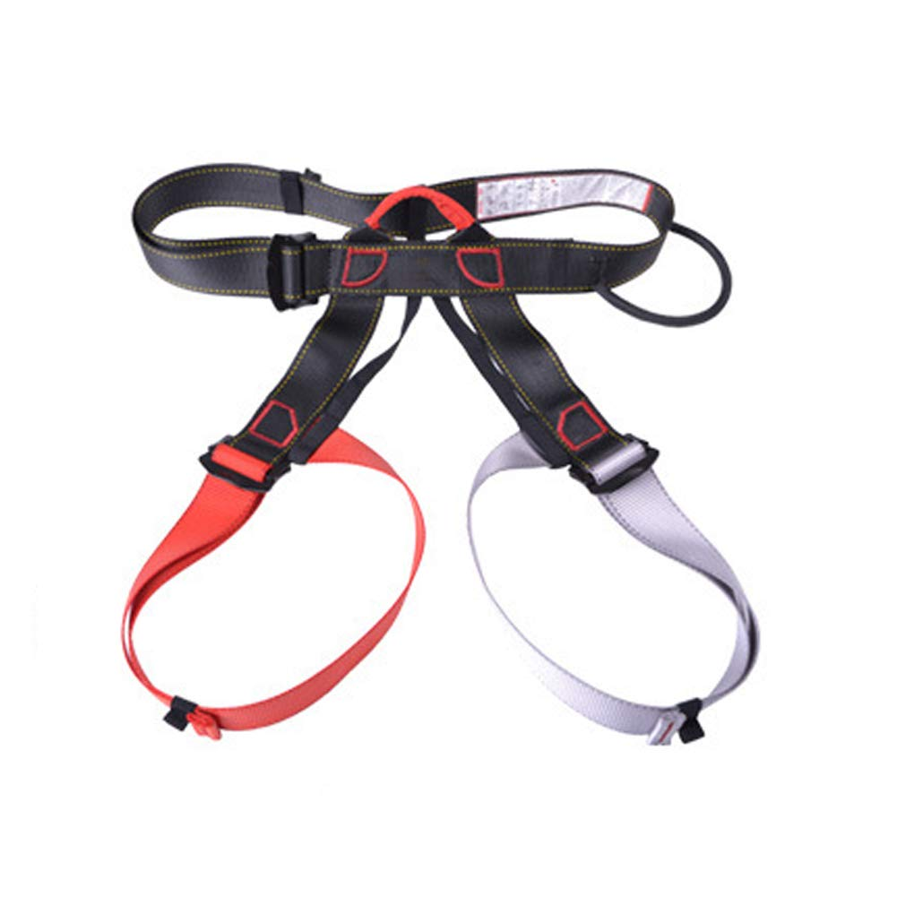 Mountaineering Harness, fire Rescue, high Altitude Rock Climbing, Downhill Equipment, Half Body Guard-reddishgray by HENRYY (Image #1)